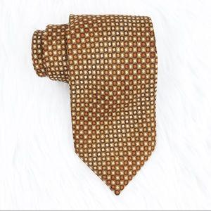 😊4/$20 Kenneth Cole Brown Orange Silk Tie